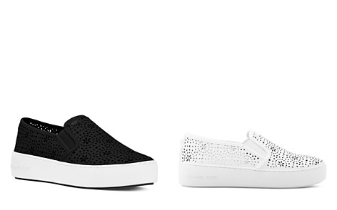 MICHAEL Michael Kors Women's Trent Perforated Leather Slip-On Sneakers - Bloomingdale's_2